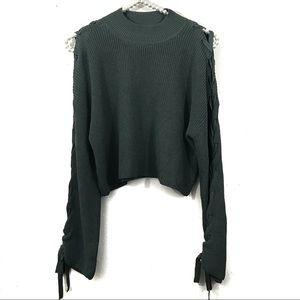 Aritzia Wilfred Knit Crop Sweater